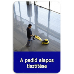 A padló alapos tisztítása